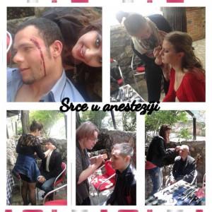 """Snimanje filma """"Srce u anesteziji"""" – Akademija kao Make Up podrška"""