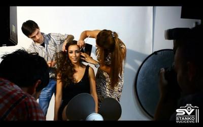 Scenska sminka i frizura na snimanju spota studenti Akademije uvek angazovani