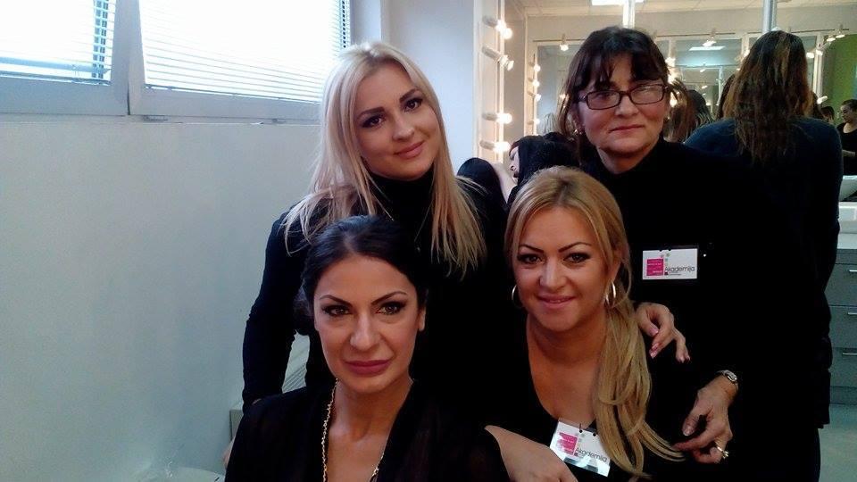 Studenti i profesori Akademije Purity na snimanju Pinkovih zvezda 20.11.2014.