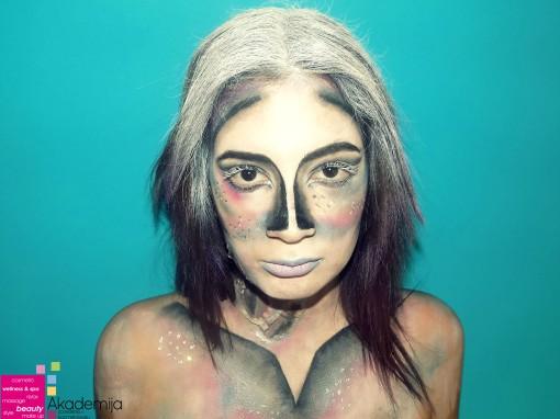 Fantasy makeup na nastavi scenske šminke
