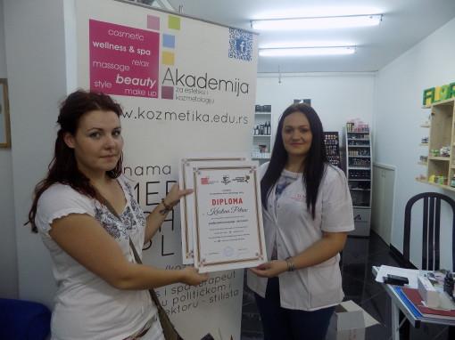 Kristina Petkov, akademski kurs masaže