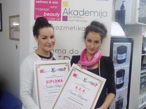 Senka Alapović, akademski kurs profesionalnog šminkanja
