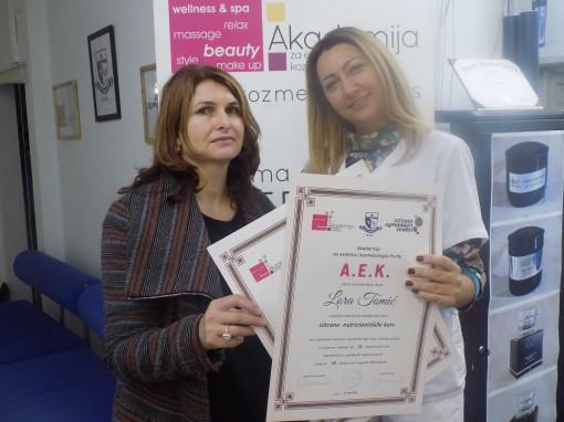 Lara Tomić, akademski kurs ishrane