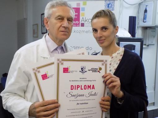 Snežana Inđić, akademski kurs za nutricionistu