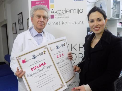 Mirjana Tubić Milojević, akademski kurs nutricionizma