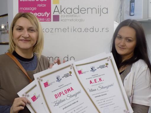 Žaklina Stanojević, akademski kurs profesionalne i scenske šminke