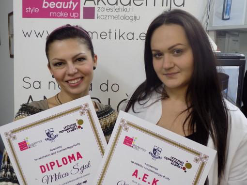 Milica Šejat, kurs profesionalnog šminkanja