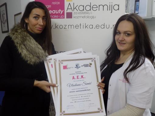 Vladana Simić, akademski kurs za personalnog trenera i nutricionistički kurs