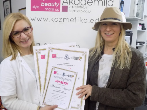 Dragana FIipović, akademski kurs profesionalnog šminkanja