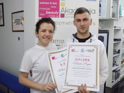 Marko Popov, akademski kurs masaže