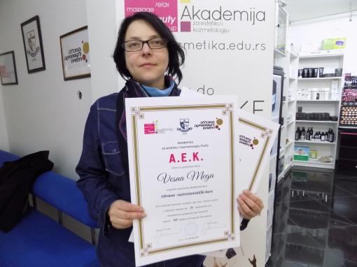 Vesna Mega, akademski kurs nutricionizma