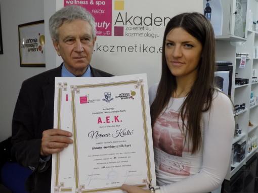 Nevena Krstić, akademski kurs za nutricionistu