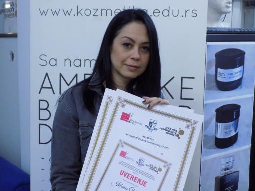 Jelena Vokši, akademski kurs nadogradnje obrva