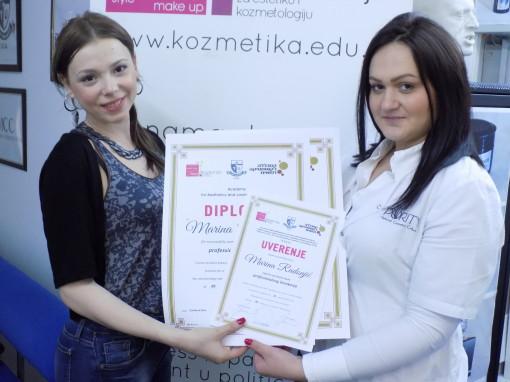Marina Radonjić, akademski kurs za profesionalno šminkanje