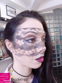 MASKA OD ČIPKE – sa nastave na predmetu Scenska šminka