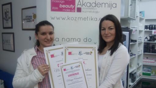 Marija Obradović, akademski kurs za japansko iscrtavanje obrva