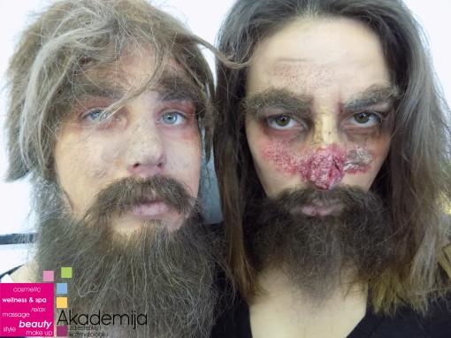 FILMSKA MASKA – studenti druge godine smera Makeup artist na nastavi Filmske šminke II