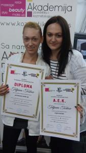 Tatjana Toškov, akademski kurs trajne šminke i 4D nadogradnje trepavica