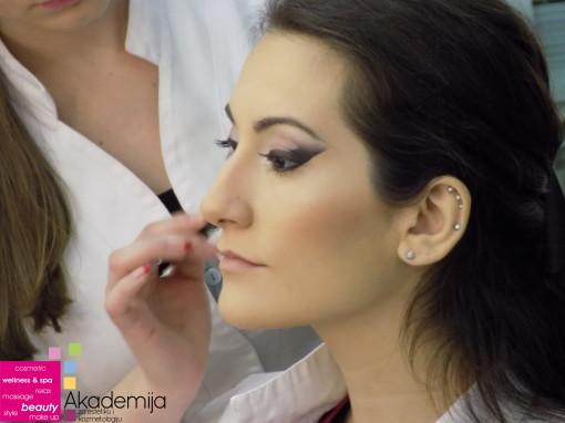 SMOKEY EYELINER – sa nastave na kursu scenske šminke
