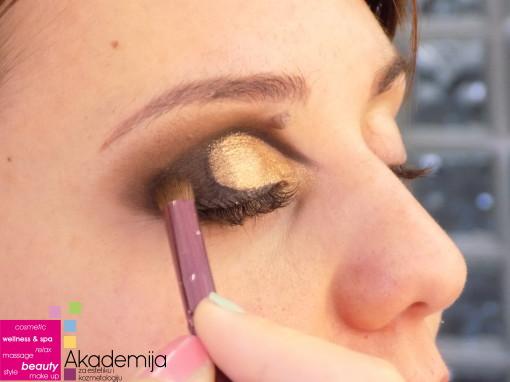 PANDA TEHNIKA ŠMINKANJA OČIJU – sa nastave na kursu Tehnike šminkanja lica