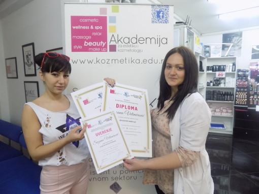 Suzana Velimirović, akademski kurs tehnika šminkanja lica
