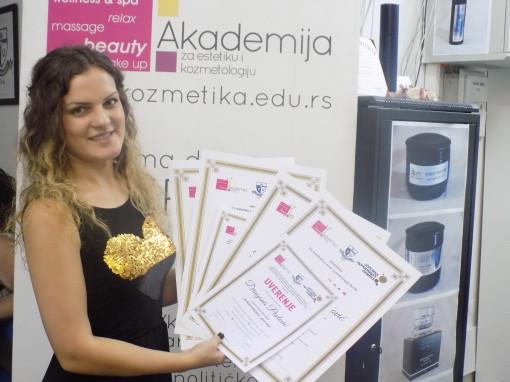 Dragana Pavlović, akademski kurs manikira, pedikira i depilacije i akademski kurs za kozmetičara