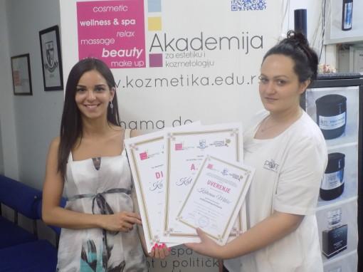 Katarina Milčić, akademski kurs profesionalnog šminkanja