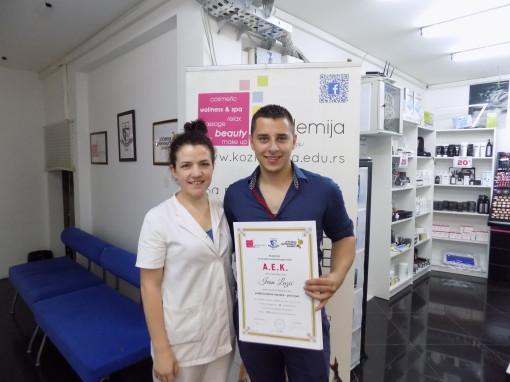 Ivan Lazić, akademski kurs masaže I nivo
