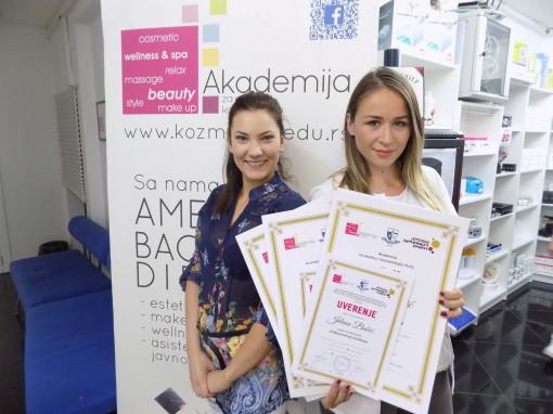 Jelena Babić, akademski kurs profesionalnog šminkanja, nadogradnje noktiju sa nail art-om i manikira, pedikira i depilacije
