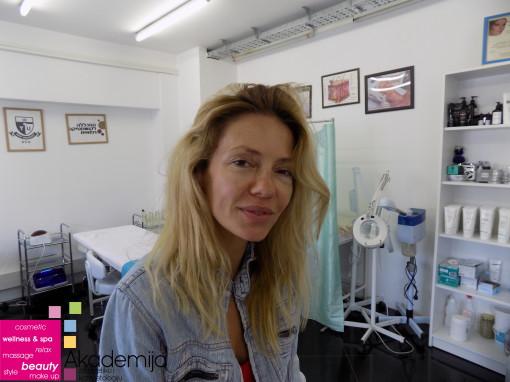 GLUMICA DANIJELA VRANJEŠ – tretman lica na Akademiji Purity
