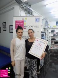 Marija Radulj, akademski kurs profesionalne masaže prvi nivo