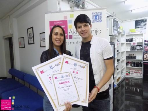 Vesna Andrejević, akademski kurs za profesionalnog frizera