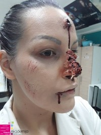 DRUGI ČAS NA NASTAVI FILMSKE ŠMINKE – rane od metka i povrede