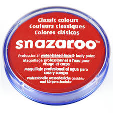 SNAZAROO BOJA za Body Art Bright red