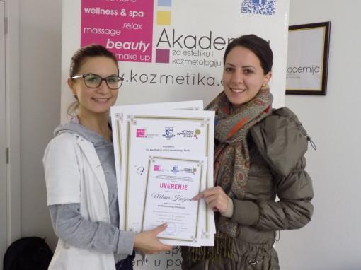 Milana Knežević, akademski kurs za profesionalnog šminkera