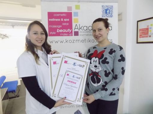 Mirjana Apostolović, kozmetički kurs I nivo
