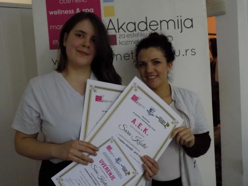 Sara Kostić, akademski kurs masaže I nivo