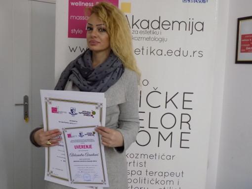 Aleksandra Aranitović, akademski kurs za japansko iscrtavanje obrva