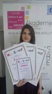 Ana Stanojlović, akademski kurs masaže