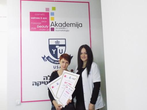 Katarina Pešić, akademski kurs japanskog iscrtavanja obrva