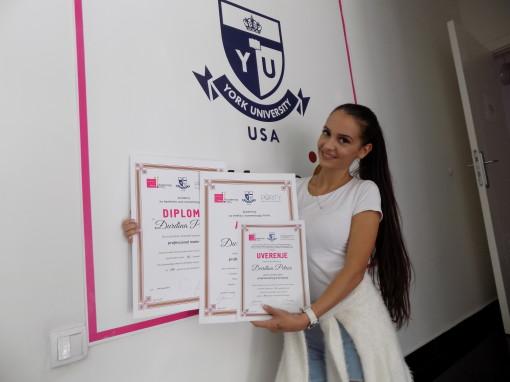 Đurđina Petrov, akademski kurs tehnika šminkanja lica